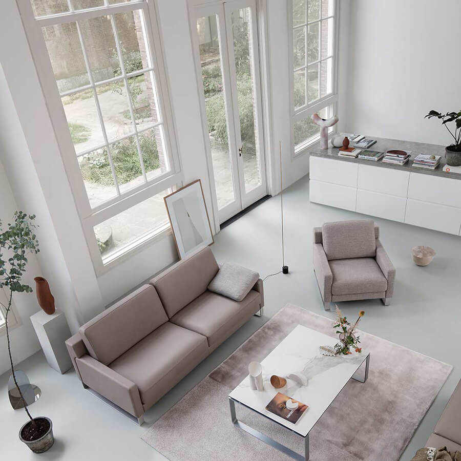 Sofa Ego in Leder by Rolf Benz - Made in Germany
